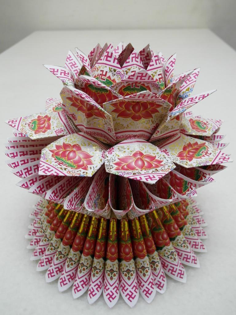 燙金蓮花-白 $150(個)