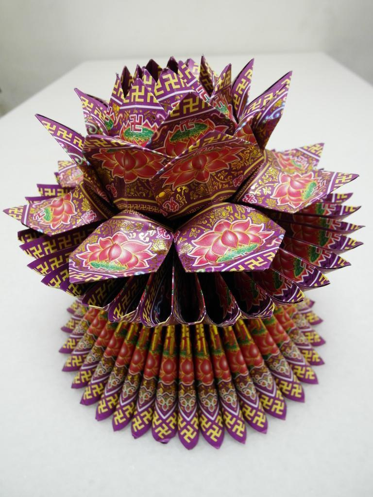 燙金蓮花-紫 $150(個)