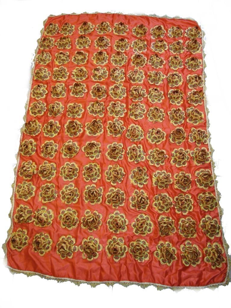 大件蓮花被(紅)  $1800