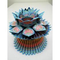 燙金蓮花-藍 $150(個)