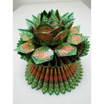 燙金蓮花-綠 $150(個)